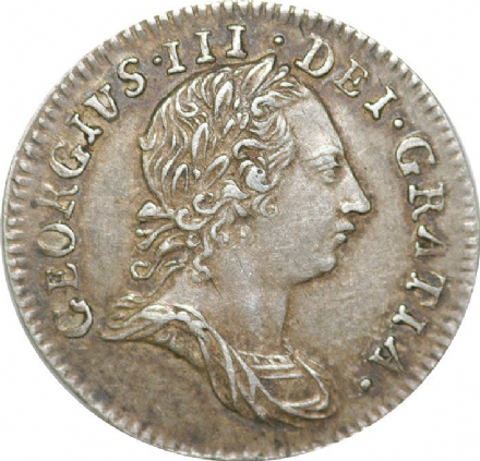 Silver Threepence of George III 1762-1763 in VF and Better